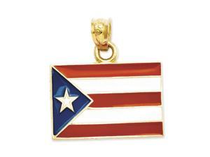 Outstanding Puerto Rico Flag Pendant