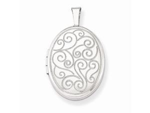 Swirl Pendant in Sterling Silver - Unisex Adult - Radiant - Mirror Finish