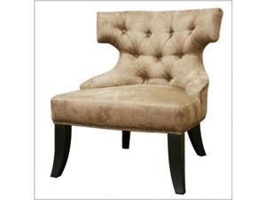 Beige Micro Fiber Club Chair by Wholesale Interiors