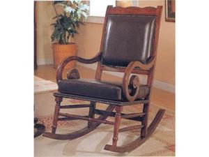 Traditional Style Rocker by Coaster Furniture