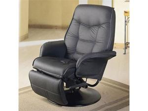 Leatherette Black Cushion Recliner by Coaster Furniture