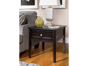 Henning Rectangular End Table in Almost black Painted Finish