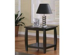 Cappuccino Finish End Table by Coaster Furniture