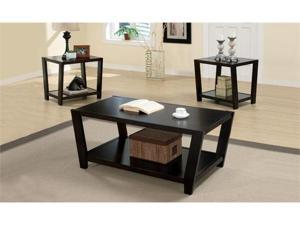 Babbette 3 Piece Occasional Table Set in Dark Cappuccino Finish by Coaster Furniture