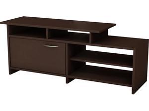 South Shore 3159661C Smart Basic Bi-Level 52-Inch TV Stand, Chocolate finish