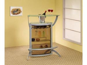 Bar Table in Silver Finish by Coaster Furniture