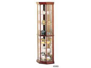 Solid Wood Corner Curio Cabinet by Coaster Furniture