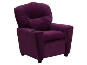 Flash Furniture Contemporary Purple Microfiber Kids Recliner with Cup Holder [BT-7950-KID-MIC-PUR-GG]