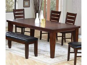 """""""Imperial Dining Table with 18"""""""" Leaf Extension in Rustic Oak by Coaster"""""""