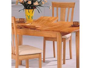 Davie Rectangle Leg Table with Butterfly Leaf in Warm Natural Finish by Coaster
