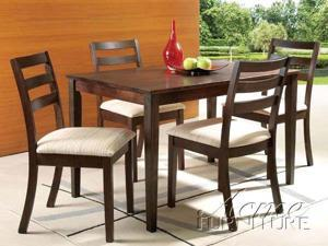 Comptemporary Harwood Espresso Finish Dining Table