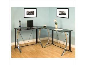 Monterey LS Corner Desk in Chrome and Black by Studio Designs