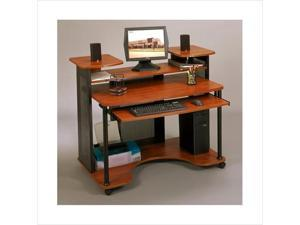 Wood Computer Desk in Black and Cherry Finish by Studio RTA