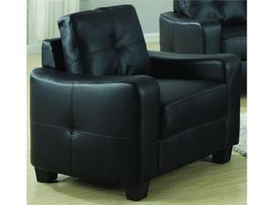 Jasmine Rich Black Leather Chair by Coaster