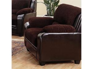 Monika Chocolate Corduroy Chair by Coaster