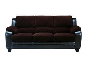 Monika Chocolate Corduroy Sofa  by Coaster