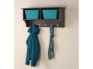 "Espresso 36"" Wide Hanging Entryway Shelf"