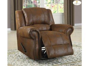 9708BJ-1 Style Swivel Rocking Reclining Chair By Homelegance Furniture