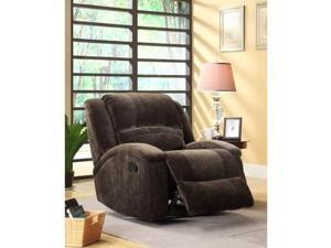 Alejandro Recliner in Chocolate Champion Microfiber by Homelegance