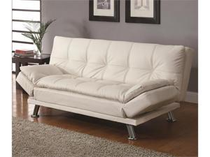 Styled Futon Sleeper Sofa with Casual Seam Stitching by Coaster