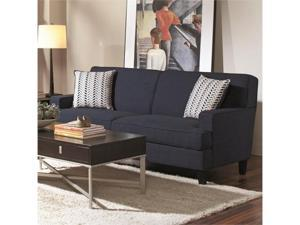 Transitional Styled Sofa in Blue Linen Upholstery by Coaster