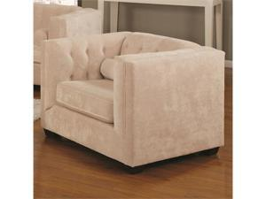 Upholstered Chesterfield Chair with High Track Arms by Coaster