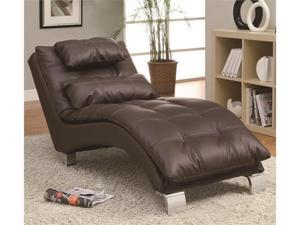 Contemporary Living Room Chaise with Sophisticated Modern Look in Brown by Coaster