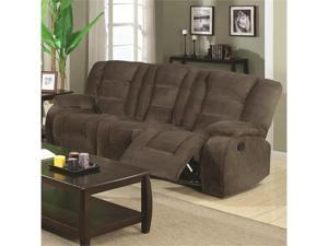 Motion Reclining Sofa with Casual Style in Brown by Coaster