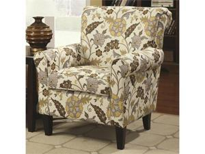 Retro Styled Accent Chair with Decorative Rolled Arms by Coaster
