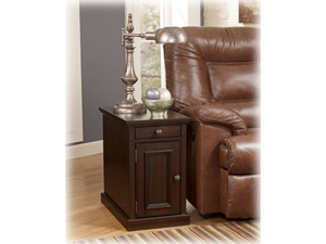 Chairside End Table in Sable Stain Finish - Signature Design by Ashley Furniture