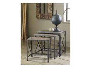 Vintage Casual Nesting End Tables in Gray/Brown - Signature Deisng by Ashley Furniture