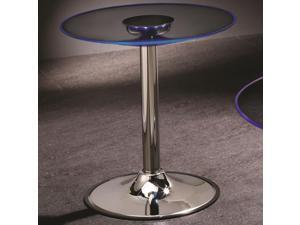 LED End Table with Chrome Base by Coaster