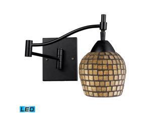 Elk Celina 1-Light Swingarm Sconce Dark Rust and Gold Leaf - 10151-1DR-GLD-LED