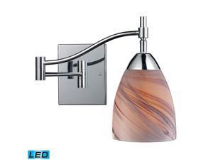 Elk Celina 1-Light Swingarm Polished Chrome and Crème Glass - 10151-1PC-CR-LED
