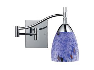 Elk Lighting Celina 1-Light Swing arm Sconce in Polished Chrome - 10151-1PC-BL