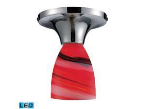 Elk Celina 1-Light Semi-Flush Polished Chrome and Candy Glass - 10152-1PC-CY-LED