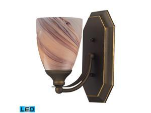 Elk Lighting 1 Light Vanity in Aged Bronze and Crème Glass - 570-1B-CR-LED