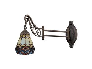Elk Lighting Mix-N-Match 1-Light Swing arm Sconce, Tiffany Bronze - 079-TB-21