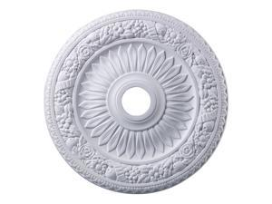 Elk Lighting Floral Wreath Medallion 24 Inch in White Finish - M1006WH