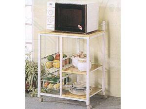 Utility Cart in Natural/White Finish by Coaster Furniture