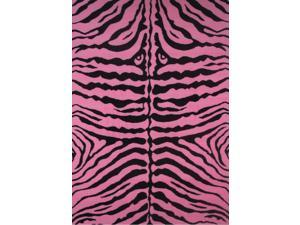 Fun Time Zebra Skin-Pink 19 In. x 29 In. Kids Rug