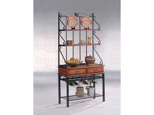Baker's Rack in Dirty Oak Finish by Coaster Furniture