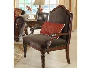Accent Chair in Chocolate Chenille By Homelegance