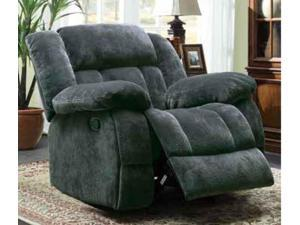 Laurelton Collection Glider Recliner Chair in Charcoal Textured Plush Microfiber By Homelegance