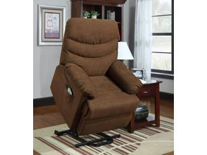 Elevated Collection Power Lift Recliner Chair in Brown by Homelegance