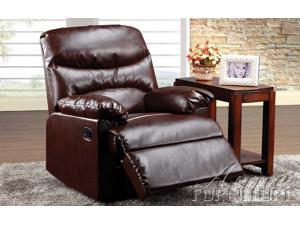 Arcadia Recliner in Cracked Brown Bonded Leather by Acme Furniture