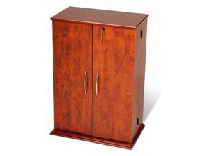 Prepac Cherry & Black Locking Media Storage Cabinet - CVS-0136