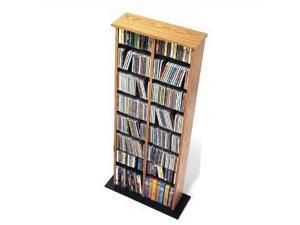 Oak  Black Double Multimedia (DVD,CD,Games) Storage Tower  By Prepac