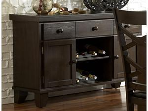 Hawn Collection Server in Rich Walnut Finish By Homelegance