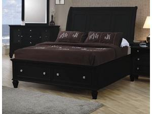 Sandy Beach King Sleigh Bed with Footboard Storage by Coaster